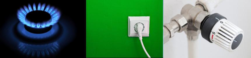 elektřina, plyn a teplota