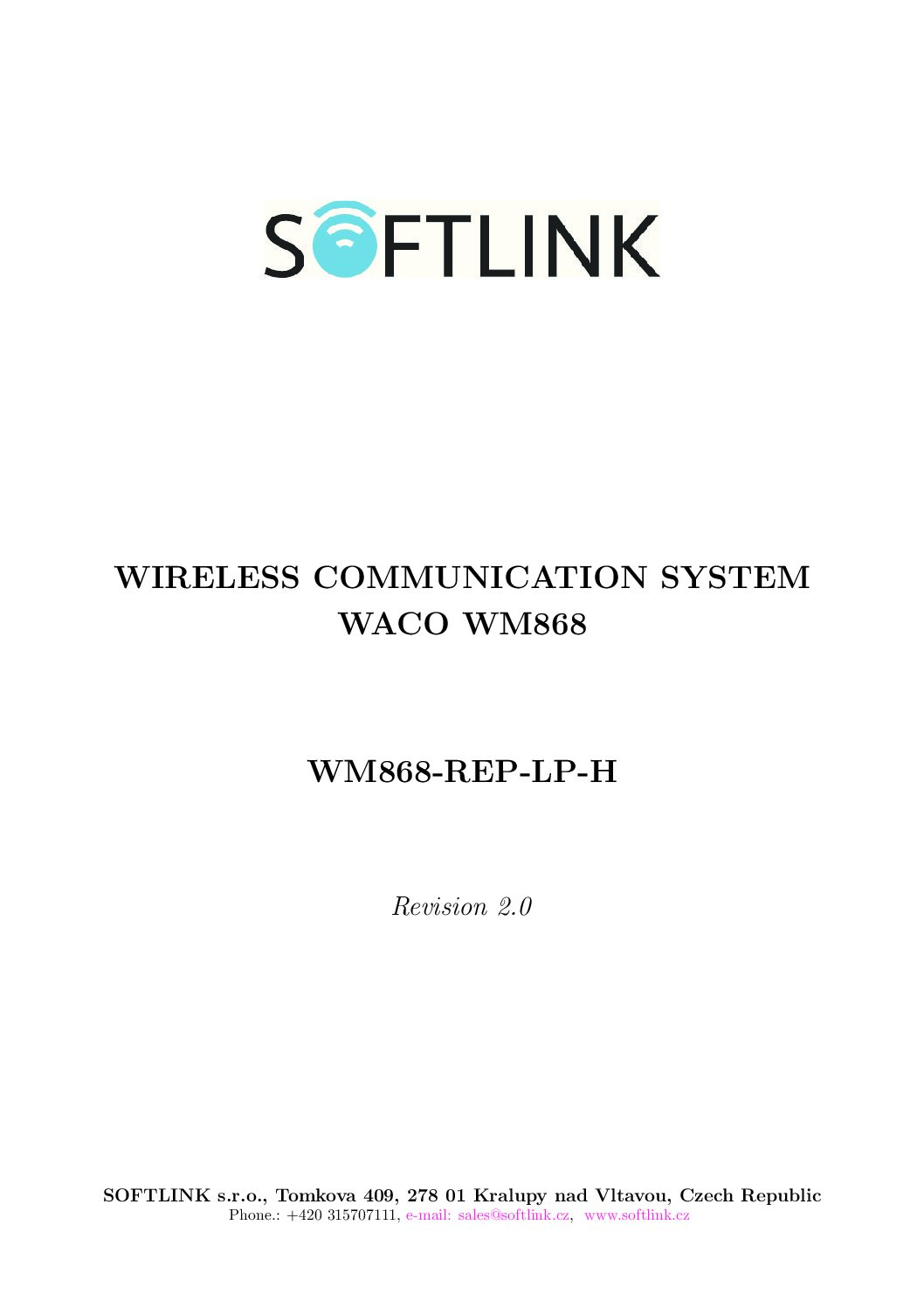 Manual WM868-REP-LP-H-EN