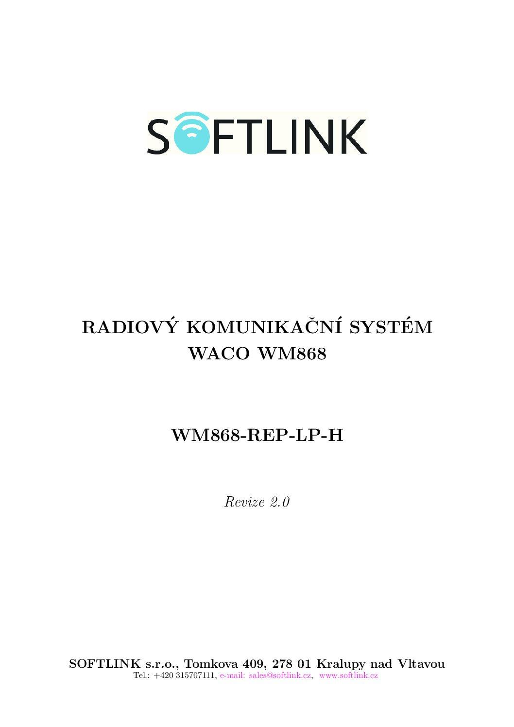 Manual WM868-REP-LP-H
